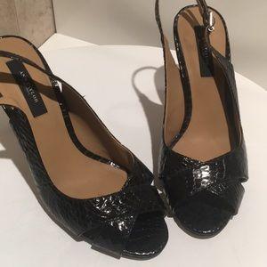 Open toe Ann Taylor pumps